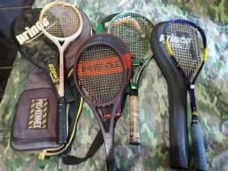 Raquetes usadas variadas
