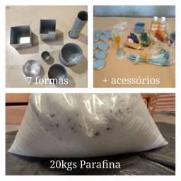 Kit para fazer velas decorativas com parafina granulada
