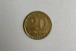 Título do anúncio: Moeda antiga 20 centavos Getúlio Vargas
