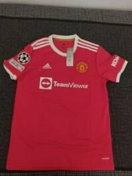 Título do anúncio: Camisas Manchester United e PSG (Ronaldo e Messi)