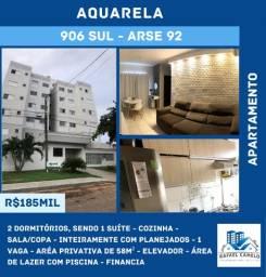 Apartamento - 2 Dormitórios, sendo uma Suíte, Mobiliado, 1 Vaga, Elevador, 58m² - 906 SUL