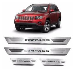 Soleira Aço Inox Jeep Compass 2015 2016 2017 2018 2019