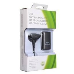 Kit Bateria Carregador Cabo Xbox 360 Console Video Game - Entrega Grátis