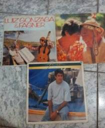 Título do anúncio: LPs Fagner (as pedras que cantam), Luiz Gonzaga & Fagner, Gozagao & Fagner 2