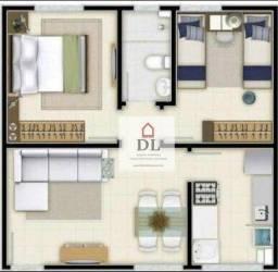 Apartamento com 2 dormitórios à venda, 54 m² por R$ 116.000,00 - Virgem Santa - Macaé/RJ