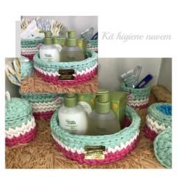 Título do anúncio: Kit higiene Bebê - cestos organizadores - lembrancinhas