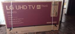 "Smart tv LG 60"" polegadas 4K LACRADO/NF"