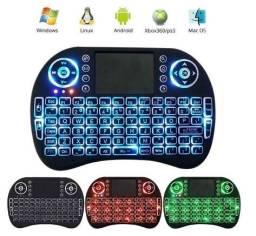 Mini teclado TV box PC Notebook  com led