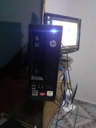 Cpu hp vision 4gb de memoria ram hd 500 gb monitor de 17 polegadas