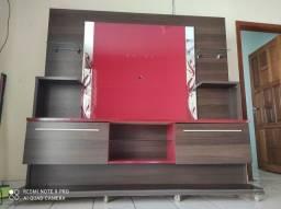 Título do anúncio: Rack painel MDF para TV 50 polegadas- laka vermelho