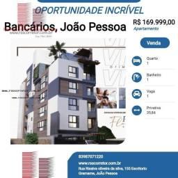 Título do anúncio: Apartamento para Venda em João Pessoa, Bancários, 1 dormitório, 1 banheiro, 1 vaga