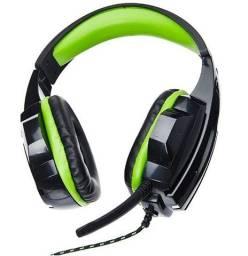 Fone de Ouvido Gamer P2/Cabo em nylon verde