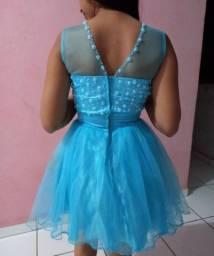 Vestido de Debutante azul bebê 2 em 1