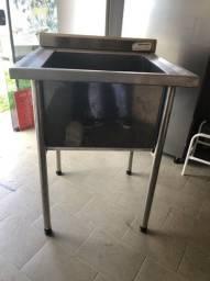 Pia em INOX - 1mx1m Cozinha industrial