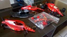 Lote F1 com 03 Ferraris F-189 1/20 Tamiya
