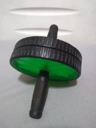 Roda abdominal preto com verde