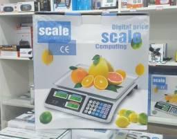 Balança Eletrônica Digital 40kg Recarregável Completa