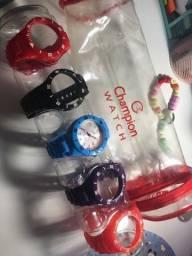 relógio champion acompanhando pulseiras