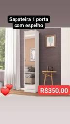 sapateira 1 porta com espelho nova montagem gratuita!!!!
