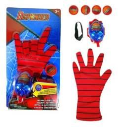 Título do anúncio: Luva Homem Aranha Lança Disco Teia Brinquedo Lançador Spider