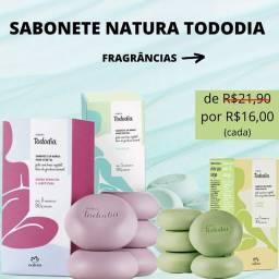 Sabonete em barra Natura Tododia (caixa com 5 unidades de 90g - cada)
