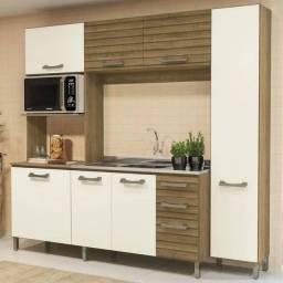 Cozinha Kappesberg E780, 7 Portas e 3 Gavetas com espaço para Forno e Microondas;