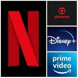 Netflix Globoplay Disney e Prime Video