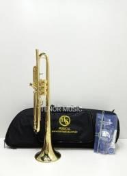 Trompete HS MUSICAL TR5-37 Sib NOVO c/ Pompa Reverse