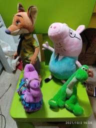 Título do anúncio: Pelúcias - Papai Pig, Cavalo do Fortnite, Patrick,  Tartaruga Ninja, Tico, Tyrone