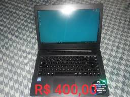 Vendo notebook r$400