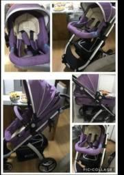 Vendo carrinho de bebê super conservado usado