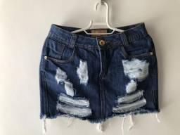 Saia jeans nunca usada, tamanho 36