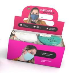 Máscara Reutilizável Dupla (30un.) - Ideal para revenda