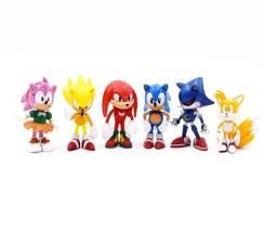 Kit 6 Bonecos Action Figure Sonic Sega Brinquedo