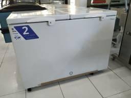 Freezer Fricon 411L tampa de aço 110v Novo Frete Grátis
