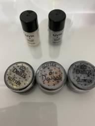 Maquiagem glitter para olhos