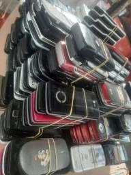 Quatrocentas aparelhos antigos todos parados