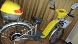 Bicicleta eletrica Biobike- amarela- c/ cestinha e bau- seminova - s/ bateria-