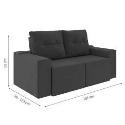Título do anúncio: Sofa retratil e reclinavel Moscow AG256