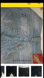 Calças jeans e tops femininos