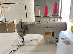 Máquina costura reta duas augulhas sansei