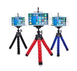 Mini Suporte Celular Câmera Tablet Gopro Tripé Flexível 360