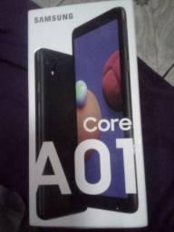 Celular barato A01 na caixa