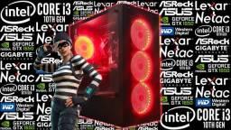 PC Gamer<>i3-10105F + GTX 1650 4GB<>Novo c/ Garantia!