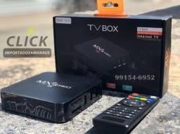 Tv Box MxQ Pro Android 11.1 128GB  TV, a Tv Pela Internet Sem travas
