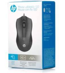 Mouse HP Usb 100 / Preto / Sensor Óptico Ambidestro / 1600 Dpi - Novo
