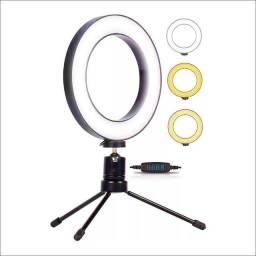 Ring Light Led Iluminador Tripé 6 Polegada 16cm (Entrego)
