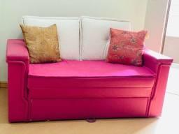 Sofá cama de Corino rosa
