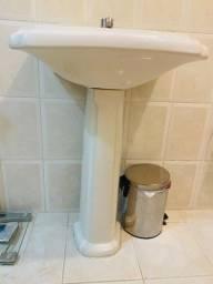 Pia banheiro de porcelana branca