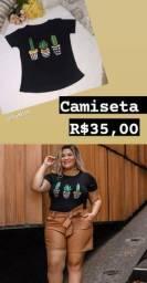 Camiseta Cactos M 35,00
